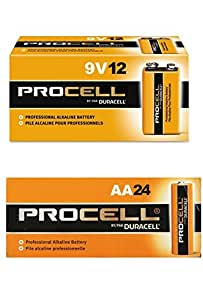 Amazon.com: Duracell Procell AA 24 Pack, 9 Volt Batteries