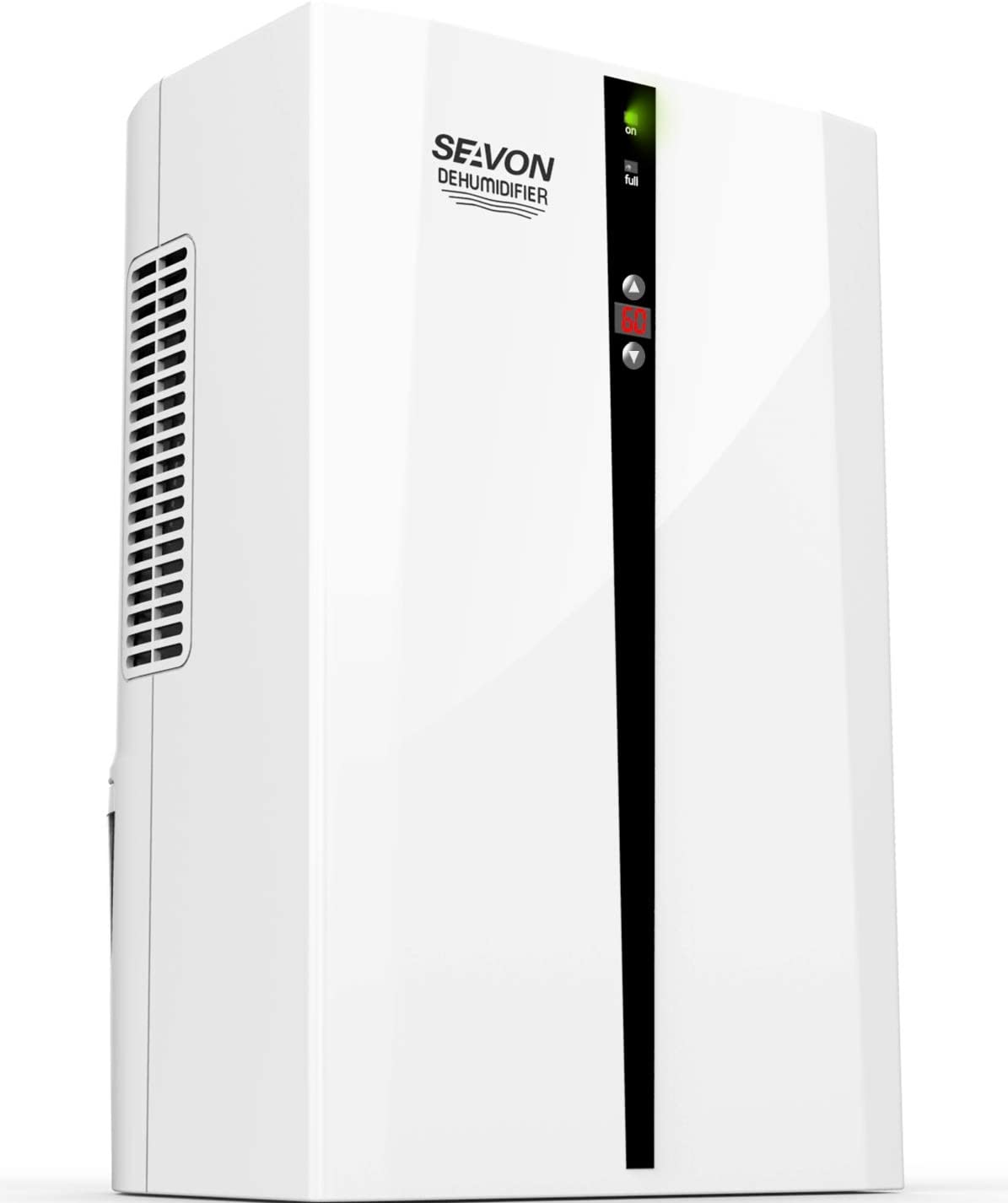 SEAVON Electric Dehumidifier for Home, 2200 Cubic Feet 270 sq ft , Control Humidity, 2000ml 68 oz Capacity, Auto Shut Off, Quiet Safe Dehumidifiers for Bedroom, Bathroom, Basement, Apartment, RV