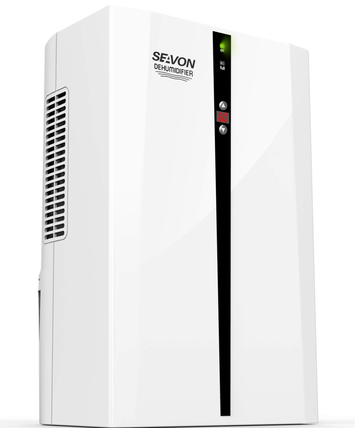 SEAVON Electric Dehumidifier for Home, 2200 Cubic Feet(270 sq ft) MD-898 2000ml (68 oz) Capacity, Quiet Safe Dehumidifiers for Apartment, Bedroom, Bathroom, RV, Closet, Auto Shut Off by SEAVON