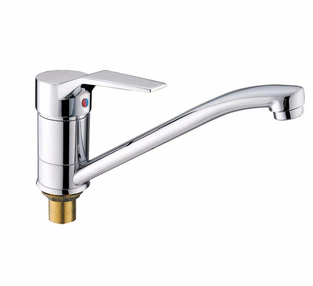 T-TSLT Kupfer Küchenarmatur, Waschen von heißem und kaltem Wasserhahn, Spülbecken Wasserhahn, Mischventil Wasserhahn