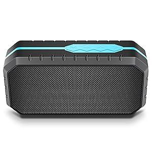 Actionpie Portable Wireless Outdoor Bluetooth SpeakerD6 Black Waterproof, Enhanced Bass, Built in Mic,water Resistant,Beach, Shower & Home