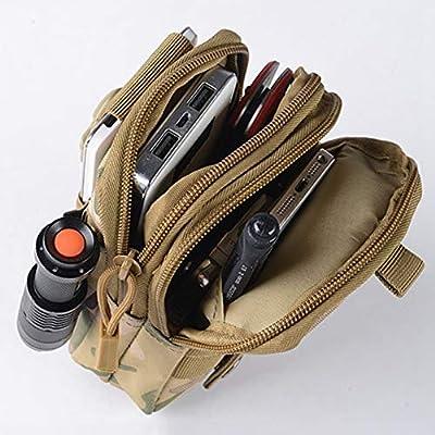 TreeMart Men's Nylon Waist Bag Waterproof Camouflage Fanny Pack Tactical Belt Bag Mobile Phone Case Travel Bum Bag Male