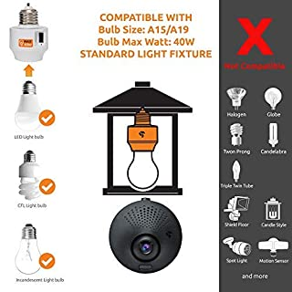 Toucan Outdoor Security Camera, Waterproof HD Home Security Cameras Powered by Porch Light Fixture, Smart Socket, Turns Light Smart, 2 Hours Playback, No Hard Wiring, 2.4Ghz WiFi (2 Pack)