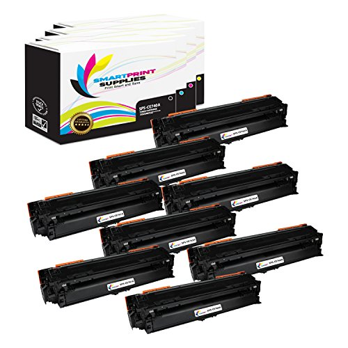 Smart Print Supplies Compatible 307A Toner Cartridge Replacement for HP Laserjet CP5225DN CP5225N Printers (CE740A Black, CE741A Cyan, CE742A Magenta, CE743A Yellow) - 8 Pack