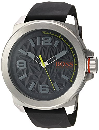 BOSS+Orange+Men%27s+Quartz+Stainless+Steel+and+Silicone+Casual+Watch%2C+Color%3AGrey+%28Model%3A+1513354%29