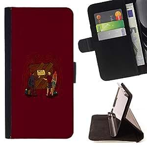 KingStore / Leather Etui en cuir / Sony Xperia Z3 D6603 / Entrance To Hell