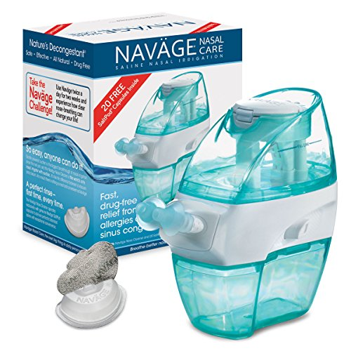 Navage Nasal Irrigation Basic Bundle: Navage Nose Cleaner and 20 Free SaltPods