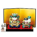 Japanese drawn Ceramic Porcelain kutani ware. Musha samurai ningyo doll displayed during the Boys' Festival. '' Japanese ceramic Hagiyakiya 1447