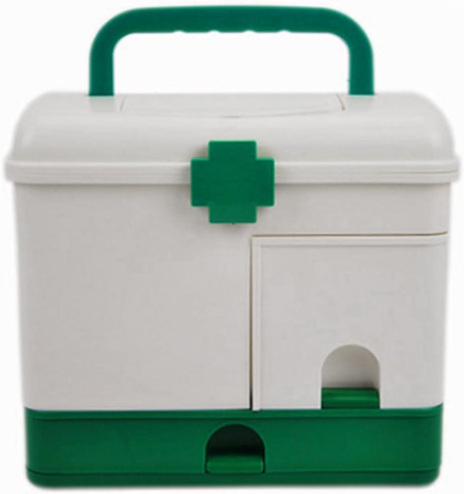 ZUJI Caja de Medicina Multicapa Armarios de Medicinas Port/átil Farmacia Organizador Botiquin de Primeros Auxilios
