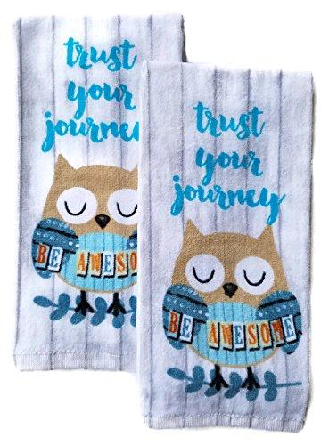 Genial Owl Kitchen Dish Towel Set Of 2