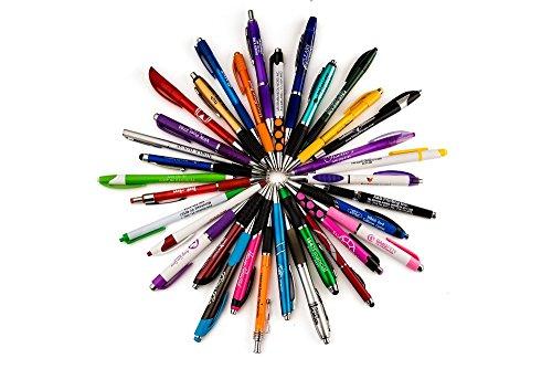 FARRYS BULK WHOLESALE Lot Misprint Ink Pens, Ball Point, Plastic, Retractable 25,50,100,250,500 PACK ()