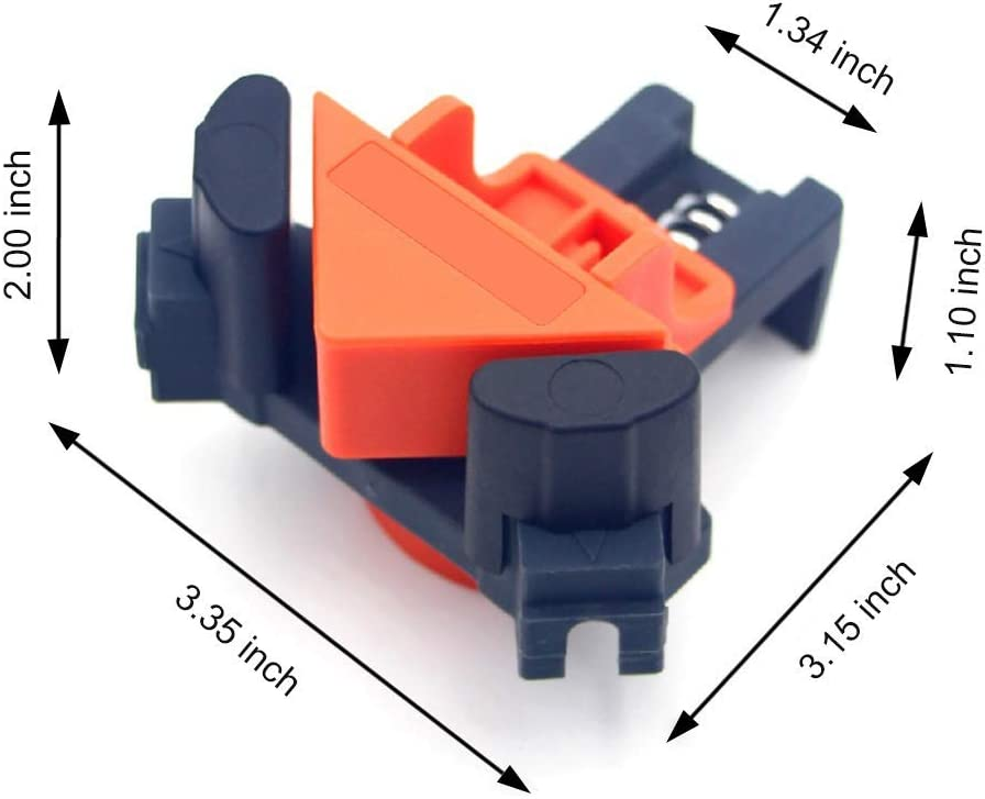 4Pcs Right Angle Clamps Multifunction Adjustable Swing Corner Clamp for Wood-working CMHSP 90/° Rights Angle Clip Fixer Furniture Repair Connection Making Cabinets