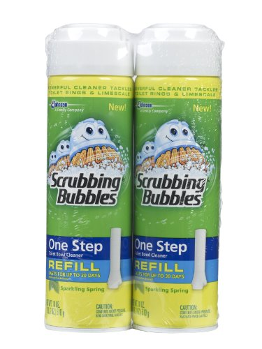 Scrubbing Bubbles One Step Toilet Cleaner Refill, Sparkling Spring ,18 Ounce- Twin Pack (Scrubbing Bubbles One Step Toilet Bowl Cleaner Refill)