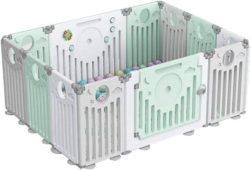 Foldable Playpen for Baby and Toddlers, Kids Activity Centre IndooSafety Baby Fence, Non-Slip Rubber Base, Gift (Multi-Size Panels)