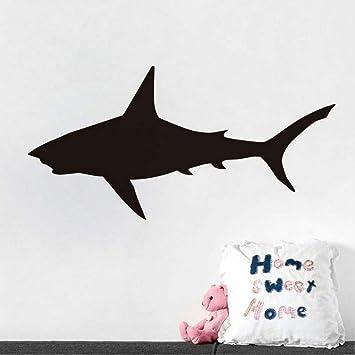 Lbonb) Gran Tiburón Pegatinas De Pared Extraíble Vinilo Silueta ...