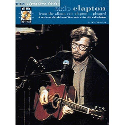 Eric Clapton: Unplugged Guitar Signature Licks. Partitions, CD pour Tablature Guitare(Symboles - Guitar Clapton Eric Unplugged