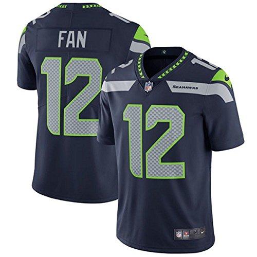 Nike Men's 12th Fan Seattle Seahawks Limited Jersey Navy Blue (XXL) (Uniform Jersey Hawk)