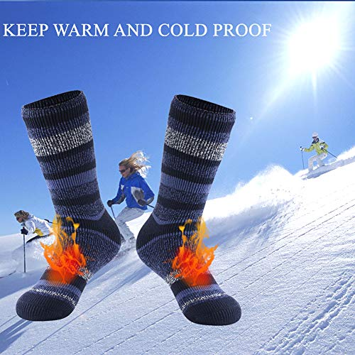 Winter Thermal Socks, Hissox Unisex 2.44 Tog Ultra Thick Warm Insulated Heated Crew Socks for Cold Weather
