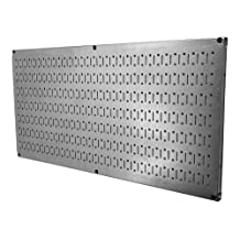 Wall Control 30-HP-1632 GV Horizontal Metal Pegboard Tool Board Panel, 16-Inch by 32-Inch, Galvanized