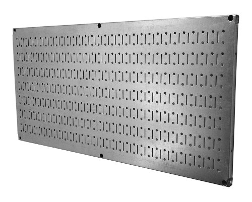 Wall Control Pegboard 16in x 32in Horizontal Galvanized Metal Pegboard Tool Board Panel ()