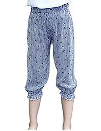 MFrannie Girls Ethnic Stripe Bohemian Summer Loose Bloomers Capri Pants