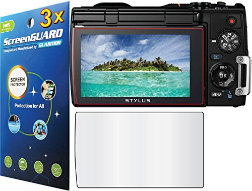 3x Olympus Tough TG-850 TG-860 TG-870 ihs Digital Camera Premium HD Clear LCD Screen Protector Guard Cover Film