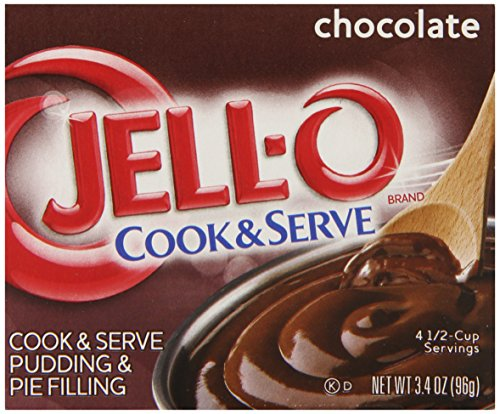 JELL-O Cook and Serve Pudding and Pie Filling, Chocolate, 3.4 - - Jello Pie