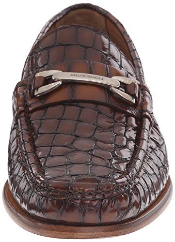Bruno Magli Mens Bice Slip-on Mocassin Cognac Crocodile