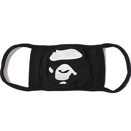 Sundatebe Fashion - Máscara de camuflaje de tiburón para boca, unisex, color negro,