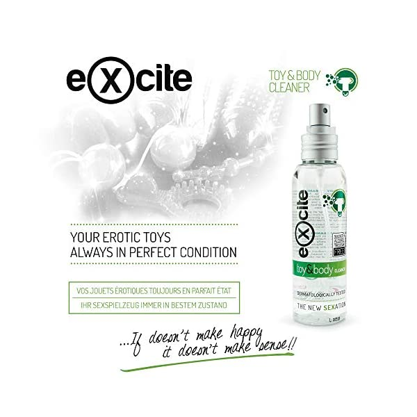 EXCITE Limpiador desinfectante de accesorios íntimos y copa menstrual. Antibacteriano y antiséptico con Aceite de Árbol de Té. Sin alcohol ni sulfatos. 100ml 8