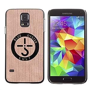 - / Band Oyster Music Art Logo - - Funda Delgada Cubierta Case Cover de Madera / FOR Samsung Galaxy S5 I9600 G9009 G9008V / Jordan Colourful Shop/