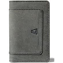 Leather Architect Men's 100% Leather Card Holder and Key Holder with RFID Blocking