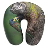 Neck Pillow with Resilient Material Woodpecker Mom and Baby U Type Travel Pillow Super Soft Cervical Pillow