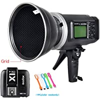 Godox AD600BM Bowens Mount 600Ws GN87 High Speed Sync Outdoor Flash Strobe Light Monolight with X1C Wireless Trigger & 7/18cm Standard Reflector with 60° Honeycomb Grid