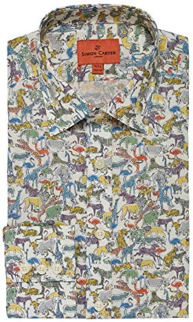 Simon Carter Liberty Safari Tana - Camisa para césped Multi Ink Wash Tones 17: Amazon.es: Ropa y accesorios