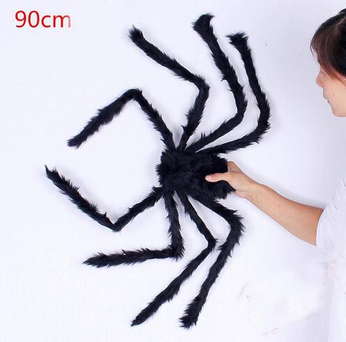 JCare 75cm Large Size Plush Spider Made Of Wire And Plush Halloween Props Spider Funny Toy For Party Or Bar KTV Halloween Decoration