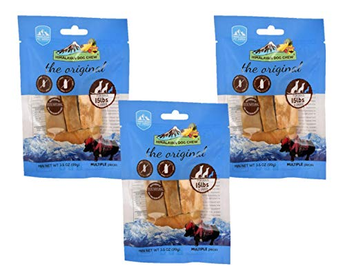 3-Pack Small Himalayan Chews Dog Chew Treat Made of Yak Milk 10.5 Total ()