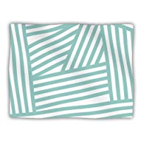 Kess InHouse Louise Machado 'Aqua Stripes' Dog Blanket, 40 by 30-Inch