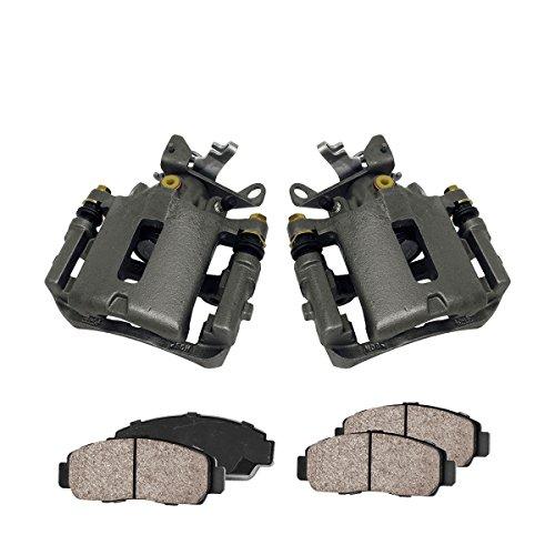 Callahan CCK03411 REAR Premium Loaded OE Caliper Pair + Ceramic Brake Pads + Hardware Kit -