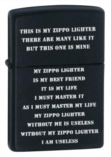 (Zippo Creed Black Matte Pocket Lighter)