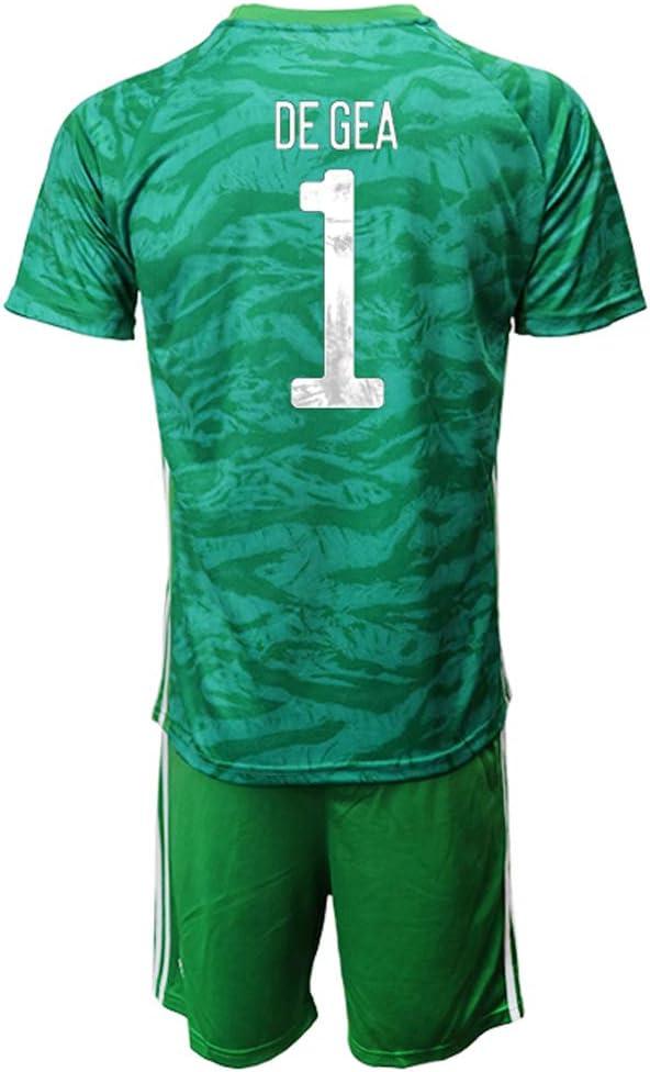 OZP Camiseta De Fútbol Soccer Jersey Short Sleeve David_De_GEA_ Green España Jersey 2 Sets Camisetas y Pantalones Cortos para Hombres/Mujeres/jóvenes: Amazon.es: Deportes y aire libre