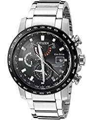 Citizen Mens World Time A-T Quartz Stainless Steel Casual Watch, Color:Silver-Toned (Model: AT9071-58E)