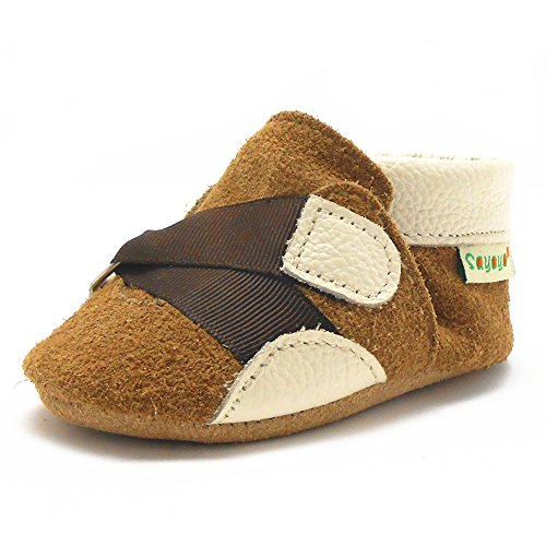 Sayoyo Baby Strap Soft Sole Leather Infant Toddler Prewalker Shoes (24-36 months, Brown)