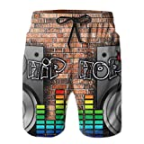 Men's Swim Trunks Hip Hop Music Quick Dry Summer Casual Cool Beach Board Shorts Vacation Surfing Bathing Suit
