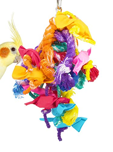 (82026 Xtra Small Mardi gras Bird Toy Parrot cage Toys Cages African Grey Conure)