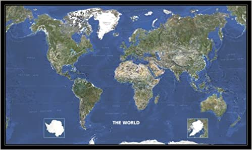 Buy World Photo Satellite Map 2007 Michelin Wall Maps Book Online