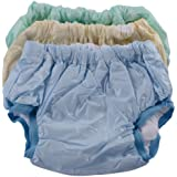 Tiny Care Baby Medium Panty Padded Inside Cotton Outside Plastic Plain (Multi color)