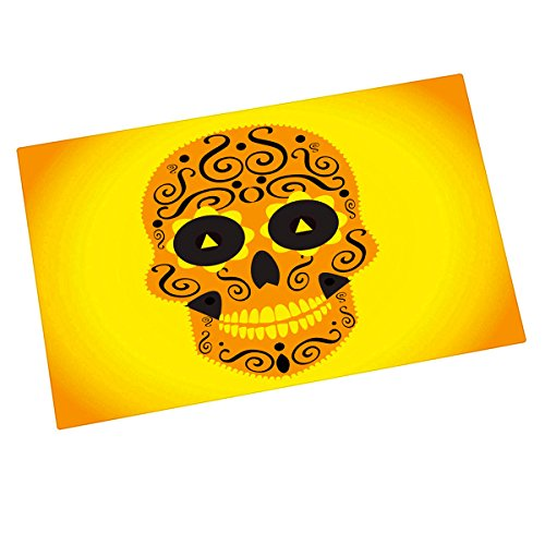 sugar skull door mat - 7