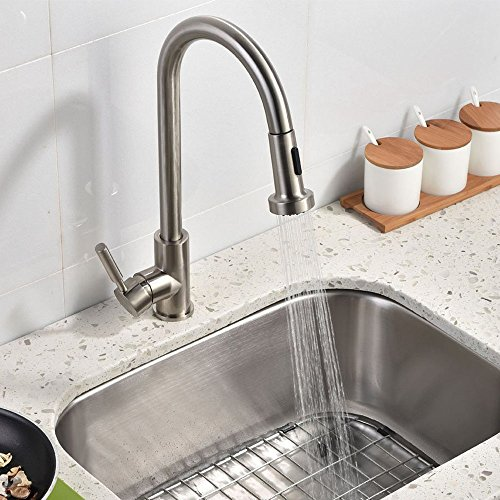 best pull out spray kitchen faucet best stainless steel single handle pull out 26456