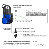 Homdox Sump Pump Submersible Water Pump 3400GPH 1HP 750W Transfer Pump for Pool, Pond, Aquarium, Hydroponics and More